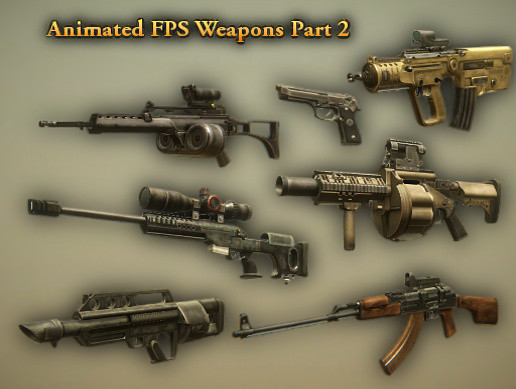 Animated FPS Weapons Pack (Part 2) - Asset Store