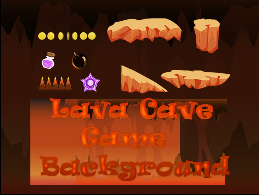 Lava Cave Game Background
