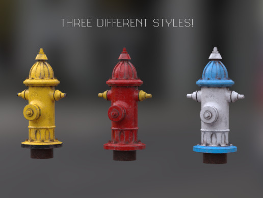 Photorealistic Fire Hydrants