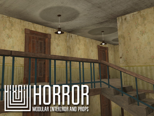 Horror - modular interiror and props