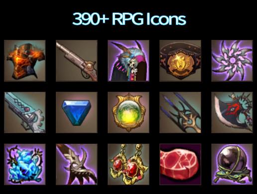 390+ RPG Icons