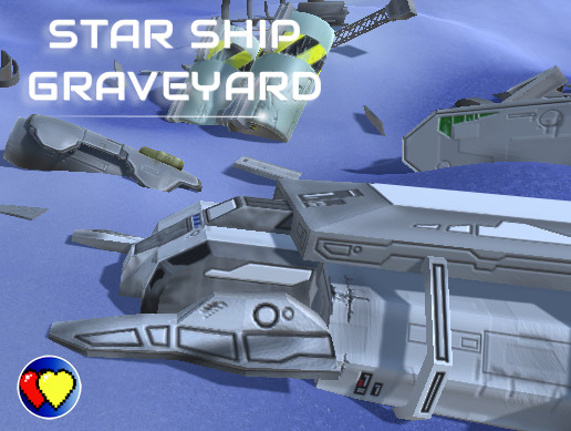 Star Ship Graveyard (Low Poly)