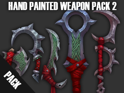 Hand Painted Weapons 2