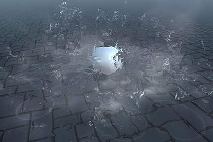Realistic water splash