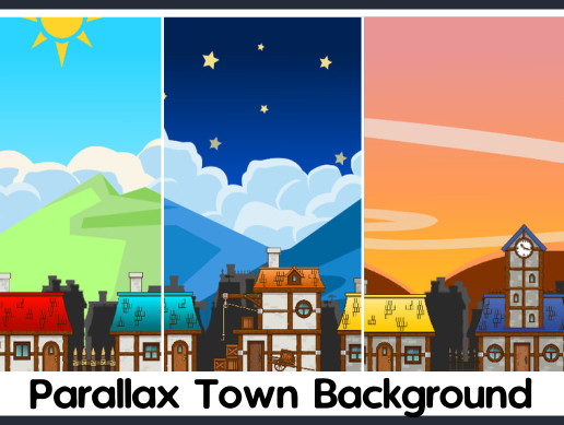 Parallax Town Background