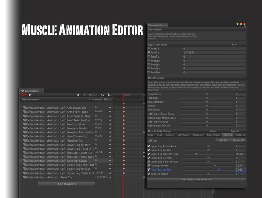 Muscle Animation Editor