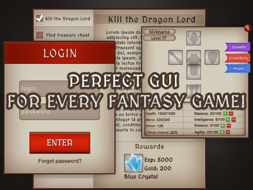 SIMPLE FANTASY GUI