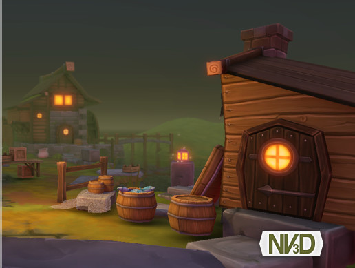 Pioneer Town: Fantasy Rural Buildings