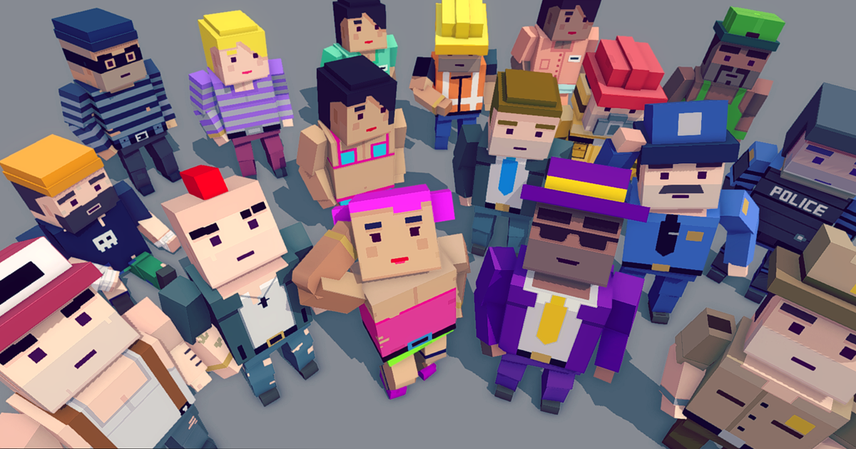 Simple People - Cartoon Characters
