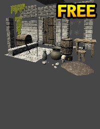 LowPoly Dungeon Modules