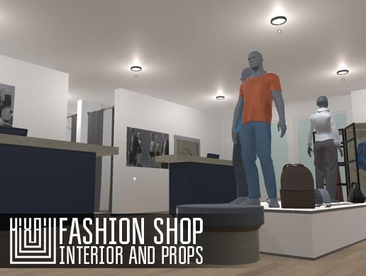 Fashion shop - interior and props
