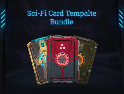 Sci-Fi Card Template Bundle