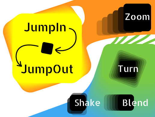 JumpIn JumpOut - UI Animation with Ease