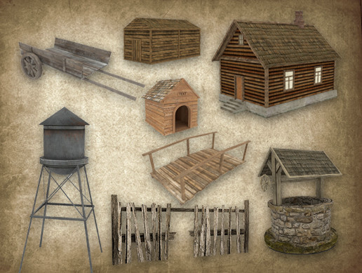 Village - Game Ready Models Pack