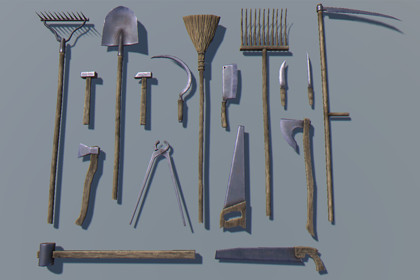 Gardening Tools Pack - 26 PBR objects