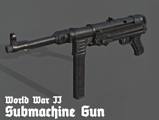 PBR Weapons - World War II Submachine Gun