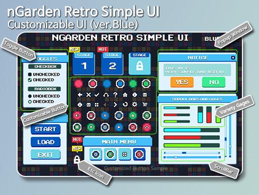 nGarden Retro Simple UI (Blue)
