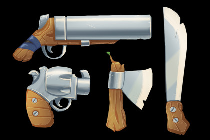 2D Wooden Weapons Pack