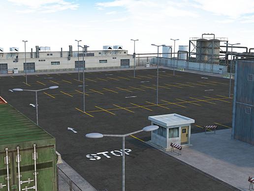 Factory Parking - Scene