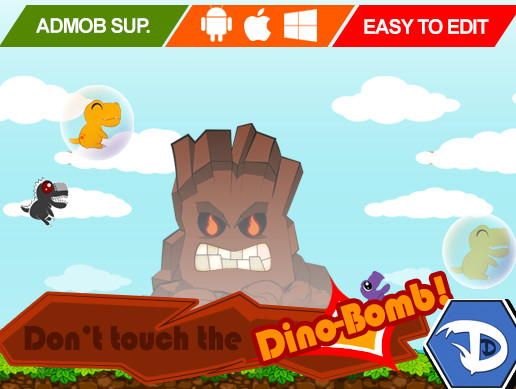 پروژه کامل یونیتی Don't Touch the Dino-Bomb! - Full Game Template
