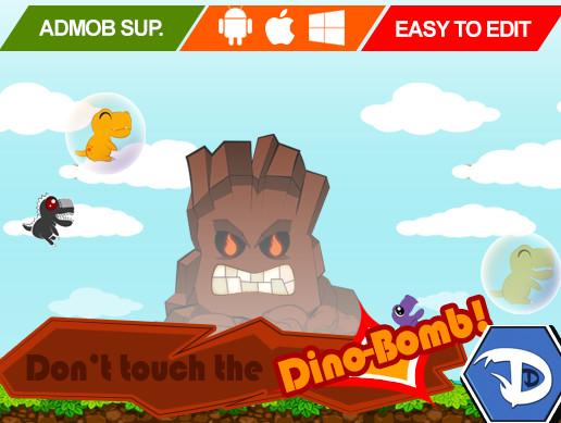 پروژه کامل یونیتی Don't Touch the Dino-Bomb! - Full Game Template