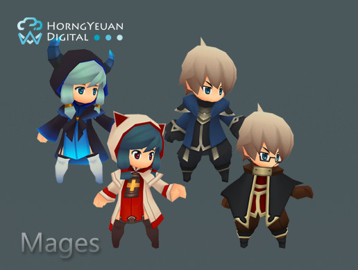 Toon Mages (Male + Female)