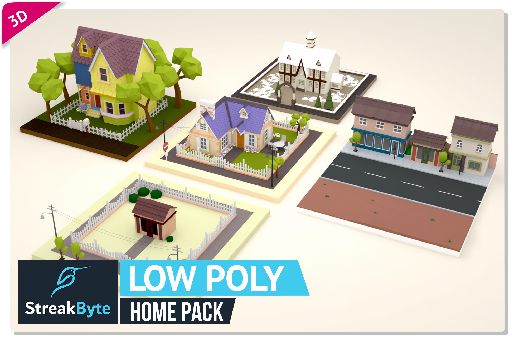 Low Poly Ultimate Home Pack