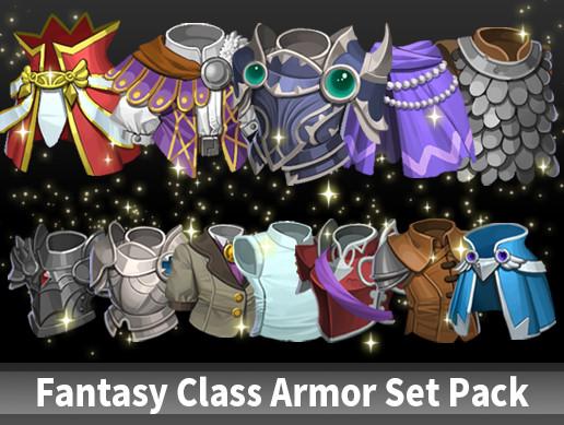 Fantasy Class Armor Set Pack