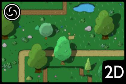 2D Top Down Forest World Tileset