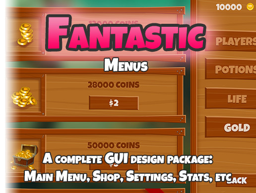 Fantastic Menus and GUI