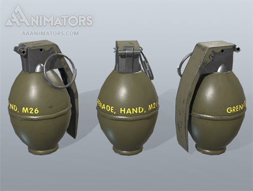 Low Poly Grenade Pack