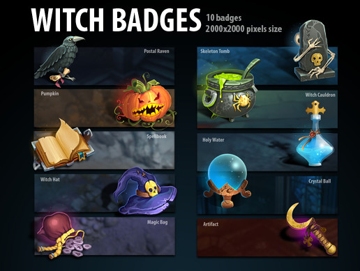 Witch badges