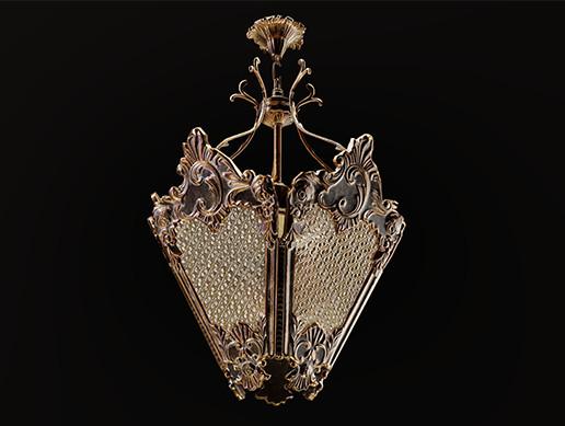 Classic lantern-chandelier