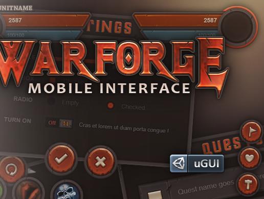 پکیج یونیتی Warforge Mobile UI