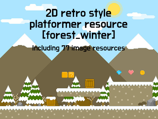 2D Retro Style Platformer Resource (Forest_Winter)