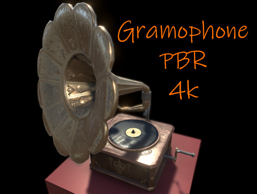 PBR Gramophone (animated)