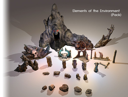Elements of the Environment Pack (26 models)