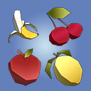 Low Poly Fruit Pickups