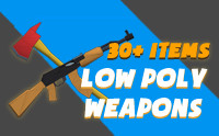 Low Poly Weapons Pack (Assorted)
