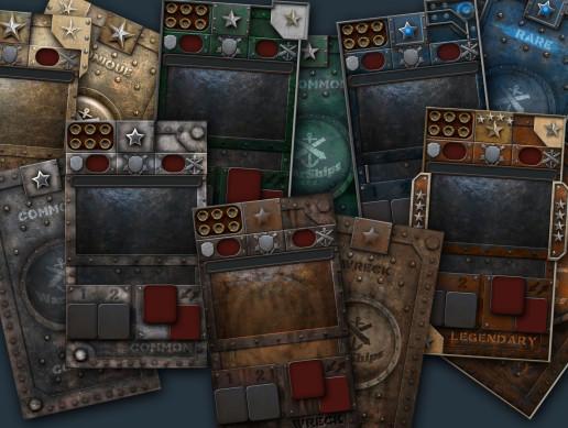 CCG card designs - WARSHIPS THEME
