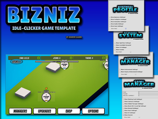 Bizniz Idle Clicker Game Template Asset Store