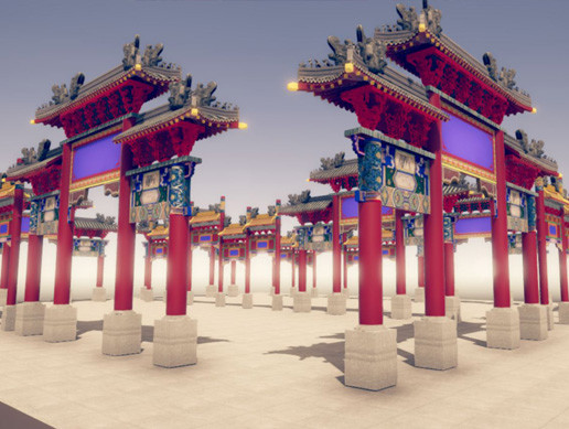 Ancient chinese archway