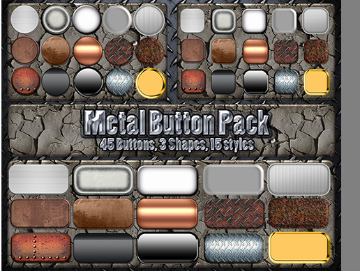 Metal Button Pack