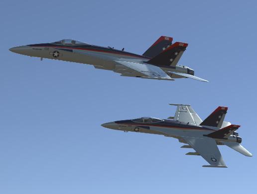 Jet Fighter Aircraft F/A-18 Hornet