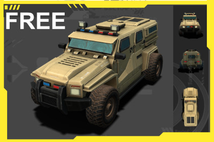 APC Military low-poly 3D Vehicle