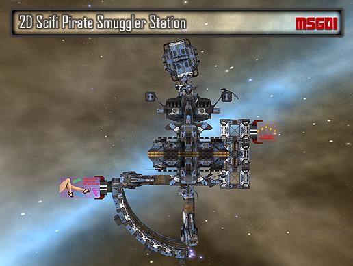 2D Pirate Smuggler Station
