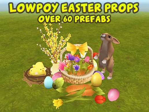Lowpoly Easter Props