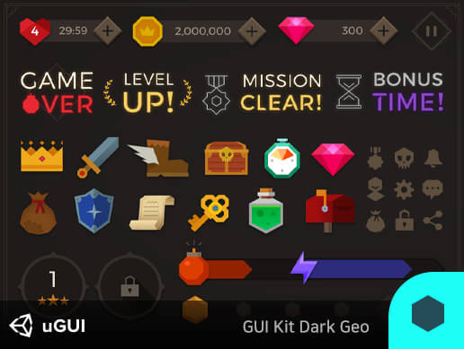 GUI Kit Dark Geo