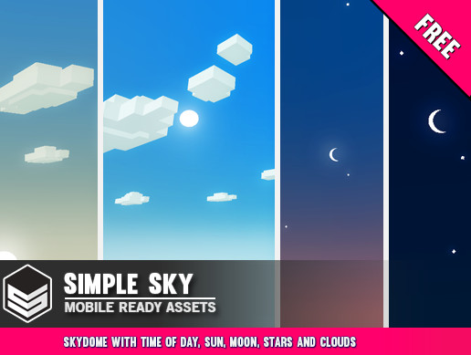 Simple Sky - Cartoon assets