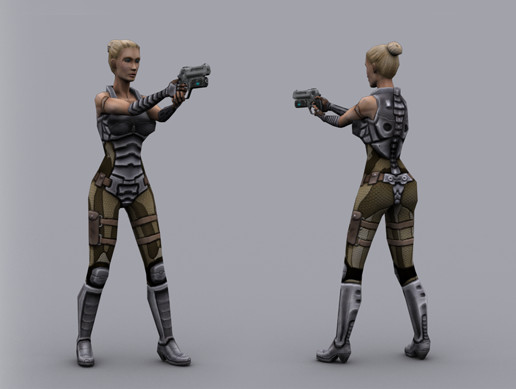 SCI FI: HUMAN MERCENARY FEMALE